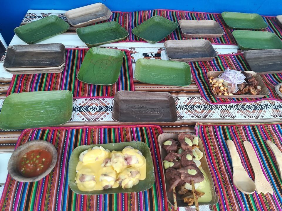 Bio Plant banana based plates in a variety of colors